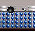 Silver and Blue Dalek Mug by Chris Singley