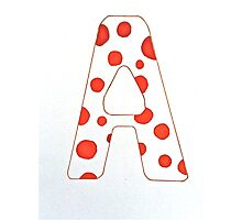 Letters of the Alphabet   A Photographic Print