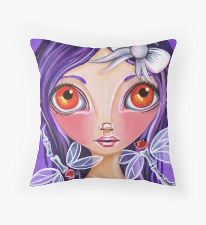 """My Little Dragonflies"" Throw Pillow"