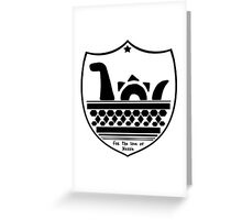 Nessie's Coat of Arms Greeting Card