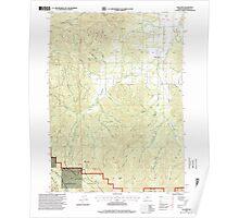 USGS Topo Map Oregon Williams 282107 1996 24000 Poster