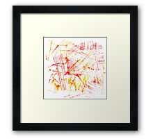 Watercolor abstract strokes Framed Print
