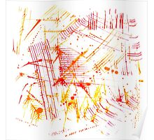 Watercolor abstract strokes Poster