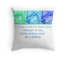 Roses for a Lifetime Throw Pillow