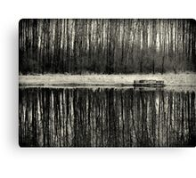 Isolation in BW Canvas Print
