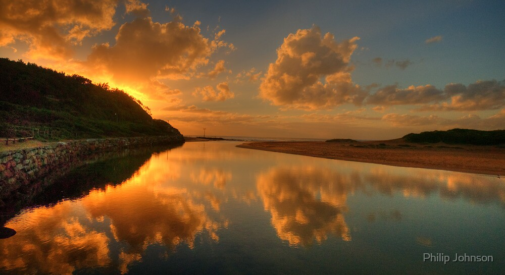 In A Reflective Mood - Narrabeen Lakes Entrance, Sydney - The HDR Experience by Philip Johnson