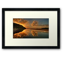In A Reflective Mood - Narrabeen Lakes Entrance, Sydney - The HDR Experience Framed Print
