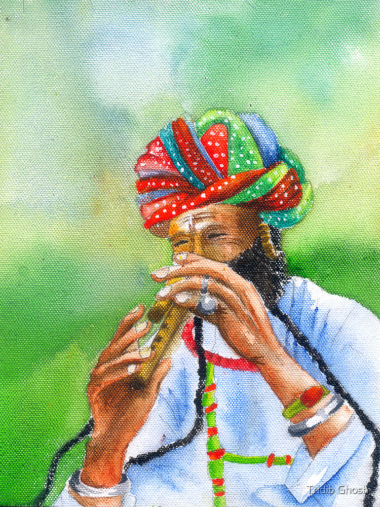 Incredible India -- The amazing flutist by Tridib Ghosh