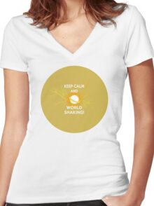 Keep Calm and World Shaking - Sailor Moon Women's Fitted V-Neck T-Shirt