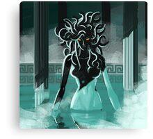 medusa in the spa Canvas Print