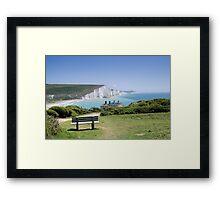 Seven Sisters chalk cliffs Framed Print