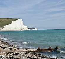 Cuckmere haven Sussex England by Jim Hellier