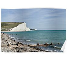 Cuckmere haven Sussex England Poster