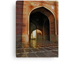 Enter the morning light-Agra India Canvas Print