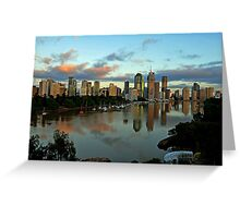 Brisbane River and City at dawn. Queensland, Australia.(6) Greeting Card