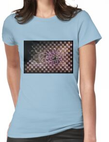 Dahlia in pink, checkered (T-Shirt) Womens Fitted T-Shirt