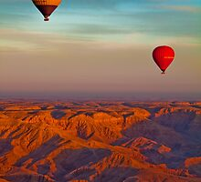Egypt. Balloon Ride over the Valley of the Kings. by vadim19