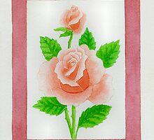 HYBRID TEA ROSE CARINELLA - AQUAREL by RainbowArt