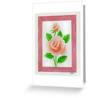 HYBRID TEA ROSE CARINELLA - AQUAREL Greeting Card