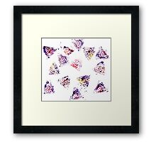 Watercolor Abstract Stain Framed Print