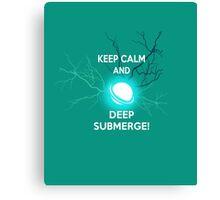 Keep Calm and Deep Submerge - Sailor Moon Canvas Print