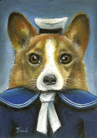 Corgi the sailor by tanyabond