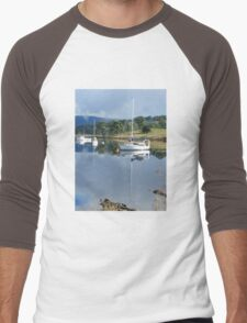 Reflections - Huon Valley, Tasmania Men's Baseball ¾ T-Shirt