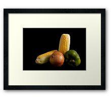 Upstanding staple Framed Print