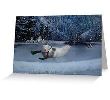 Snow Bear Greeting Card