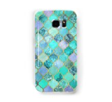 Cool Jade & Icy Mint Decorative Moroccan Tile Pattern Samsung Galaxy Case/Skin