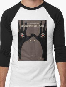 No061 My Pans Labyrinth minimal movie poster Men's Baseball ¾ T-Shirt