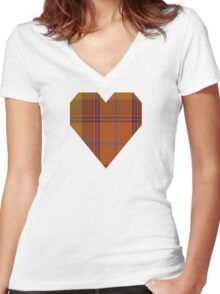 00424 A Star is Born Tartan  Women's Fitted V-Neck T-Shirt