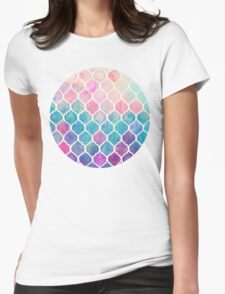 Rainbow Pastel Watercolor Moroccan Pattern T-Shirt