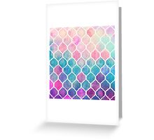 Rainbow Pastel Watercolor Moroccan Pattern Greeting Card