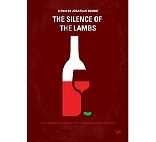 No078 My Silence of the lamb minimal movie poster Photographic Print