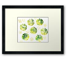 Abstract Watercolor Stain Framed Print