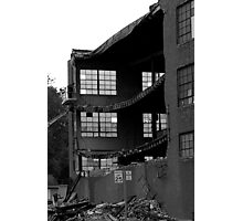 Destruction of a building....stone the crow Photographic Print