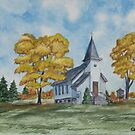 Chapel In Fall by Charlotte  Blanchard