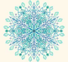 Peppermint Snowflake on Cream by micklyn