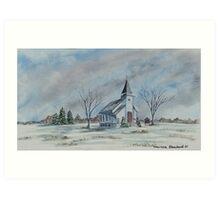 Chapel In Winter Art Print