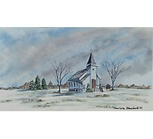 Chapel In Winter Photographic Print