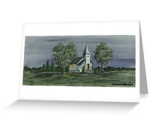 Country Church On A Summer Night Greeting Card