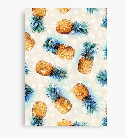 Pineapples + Crystals Canvas Print