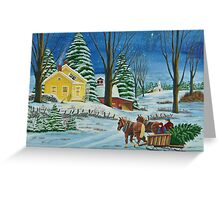 Christmas Even In The Country Greeting Card