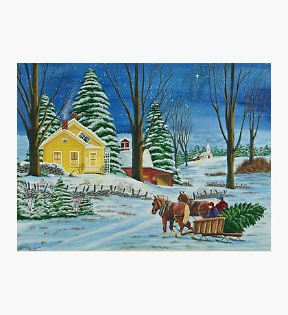 Christmas Even In The Country Photographic Print
