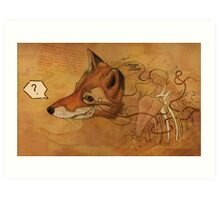 Curious Mr.Fox Art Print
