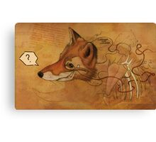 Curious Mr.Fox Canvas Print