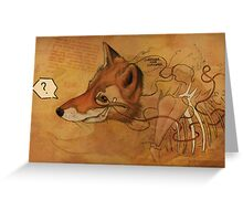 Curious Mr.Fox Greeting Card