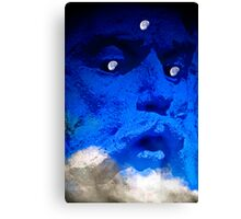 Moon in the Man Canvas Print