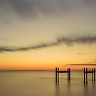 Orange Skies - Wynnum Qld Australia by Beth  Wode